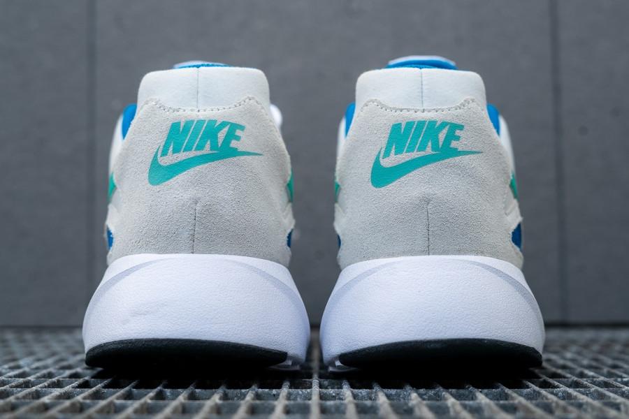 Basket Nike Pantheos blanche suède gris Swoosh bleu turquoise (3)