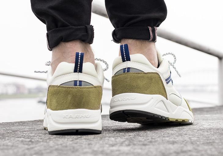 Chaussure Karhu Fusion 2.0 Boa Deep Cobalt on feet (1)