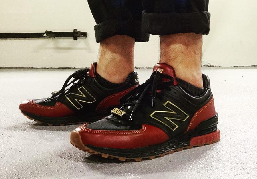 Limited EDT x New Balance 574S on feet - @s3ba5t1an
