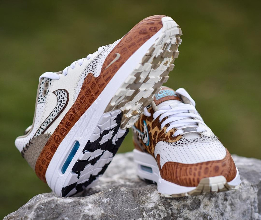 Nike Air Max 1 Bespoke Animal Milkshake Safari - @safari_kicks