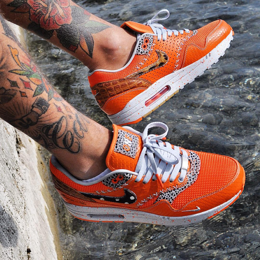 Nike Air Max 1 Bespoke Safari Orange Box - @highlifesneakers