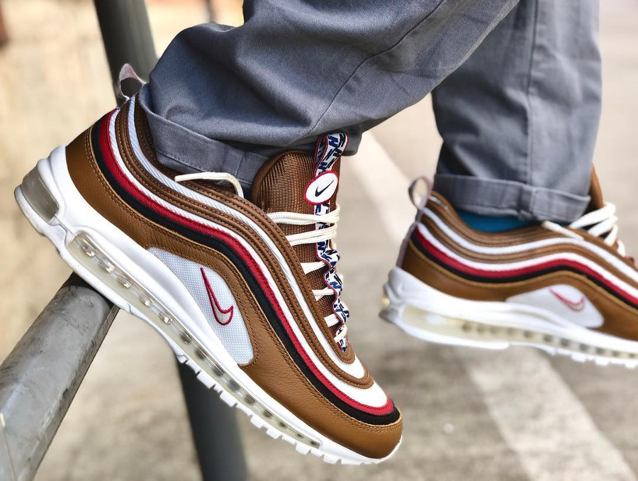 Nike Air Max 97 PRM Pull Tab on feet- @fthefu