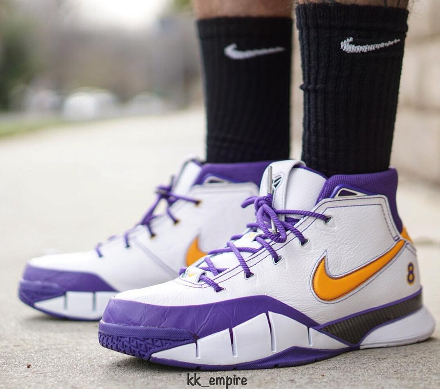Nike Kobe Protro 1 Lakers on feet - @kk_empire