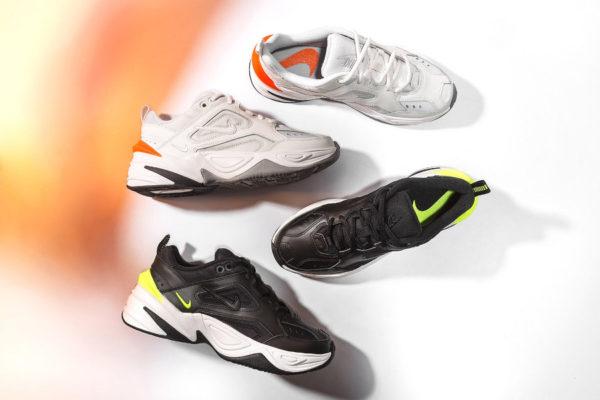 Nike Monarch M2K Tekno blanche & noire fluo