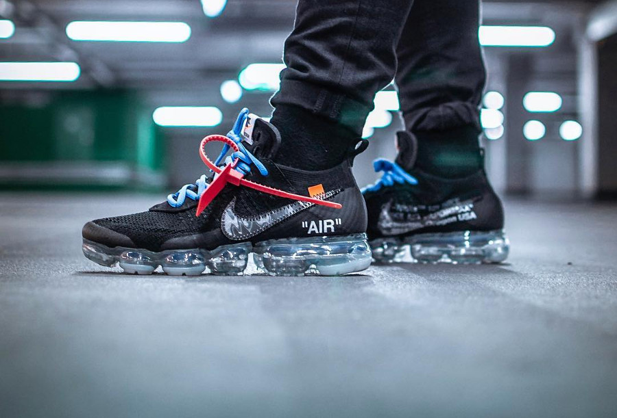 Off White x Nike Air Vapormax Black 2018 on feet - @songzdown