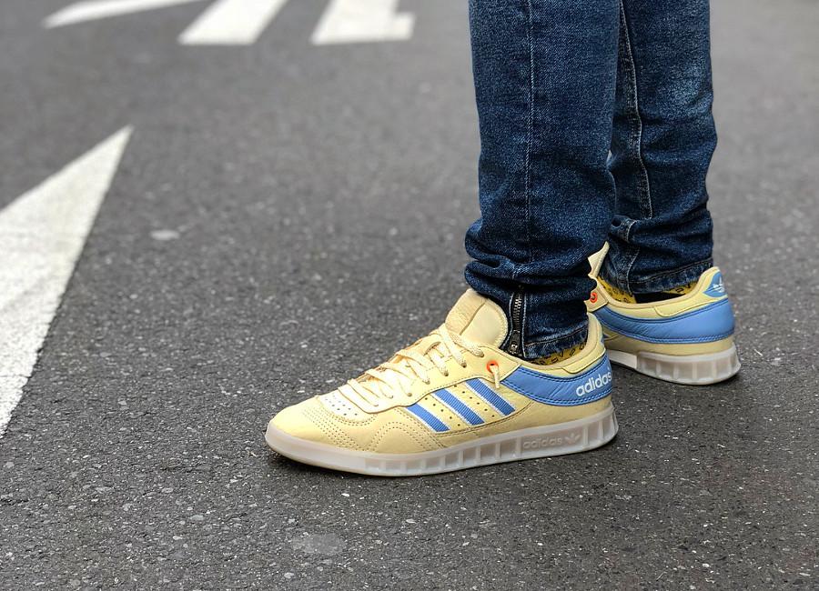 Oyster Holdings x Adidas Handball Top on feet - @jsefdu
