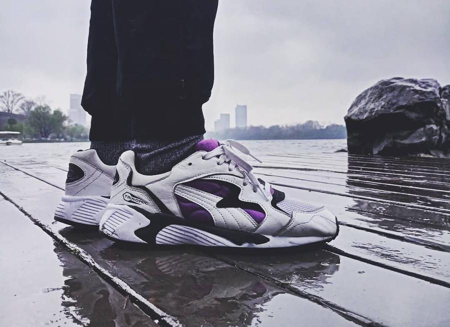 Puma Prevail OG White Purple on feet - @duckmajik
