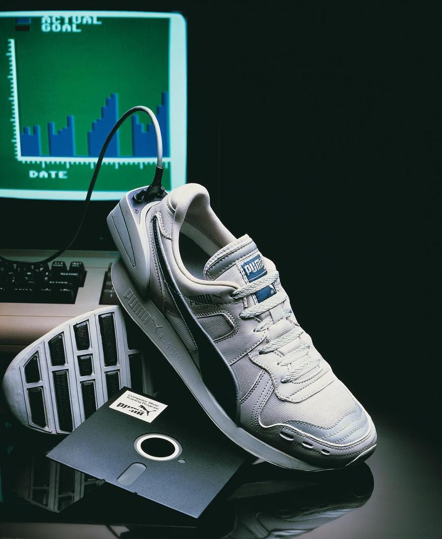 Puma RS Computer Shoe de 1986 avec disquette