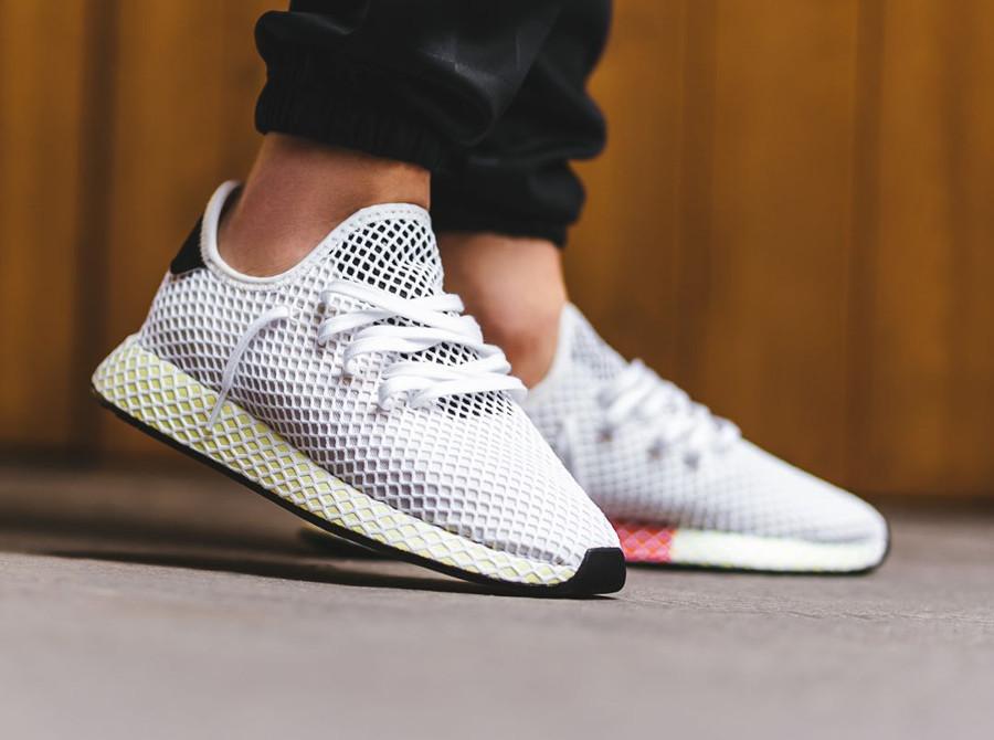 chaussure adidas deerupt runner jaune