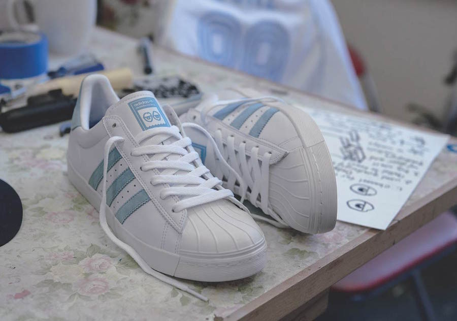 Krooked x Mark Gonzales x Adidas Superstar Vulc