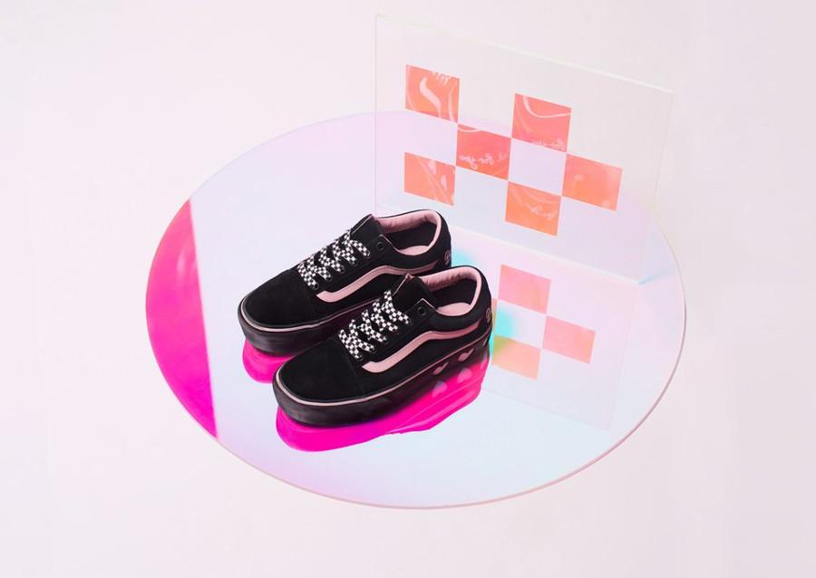 basket-lazy-oaf-vans-old-skool-fille-semelle-compensée-noire-et-rose-VA3B3UR2O (1)