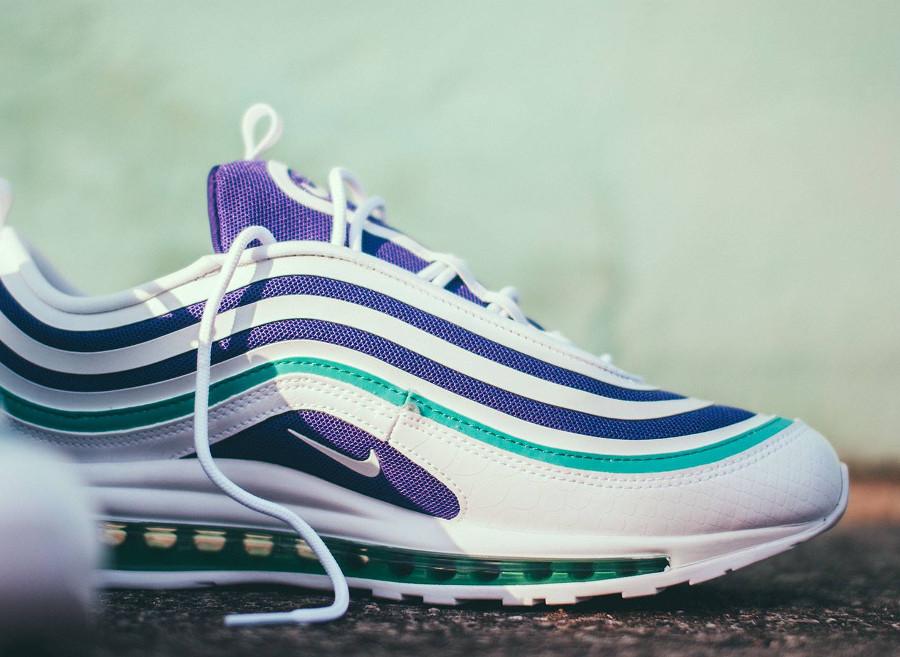 basket-nike-air-max-97-ultra-17-femme-blanche-violet-vert-AH6806-102 (2)