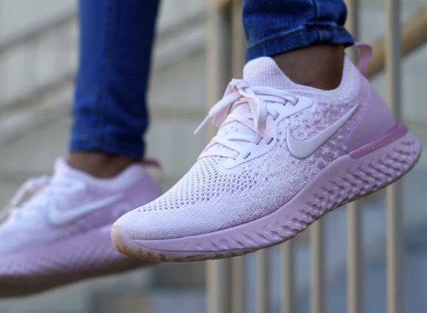 Nike Epic React Boost Flyknit Rose Pearl Pink