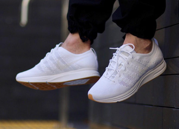 Chaussure Nike Flyknit Trainer blanche White Gum