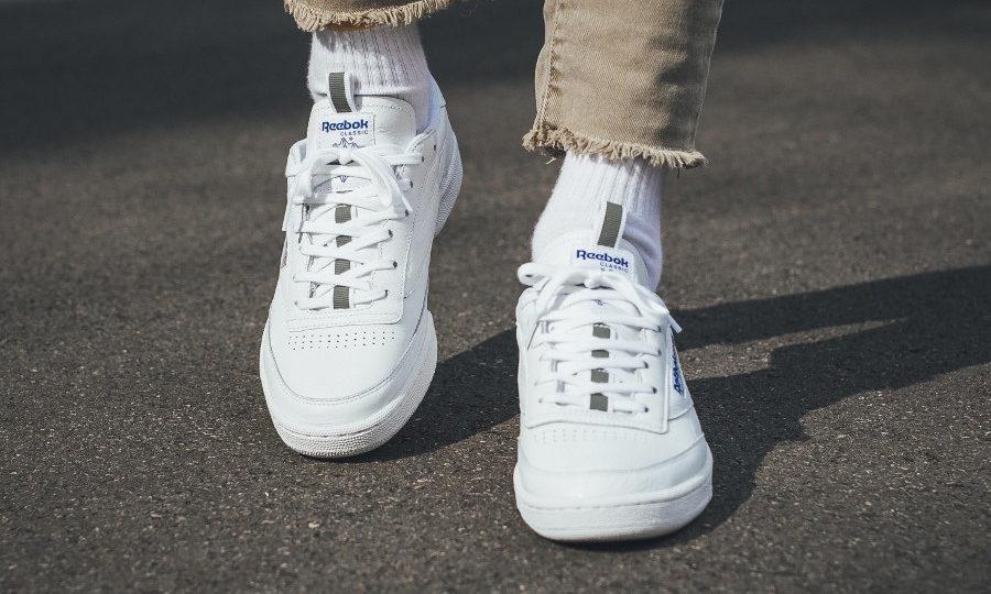 Chaussure Reebok Club C 85 RT Pull Tab White