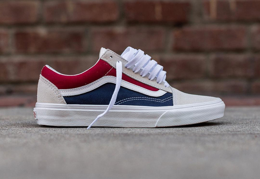 Guide des achats : Vans Old Skool 'Retro Block' White Red Dress Blue