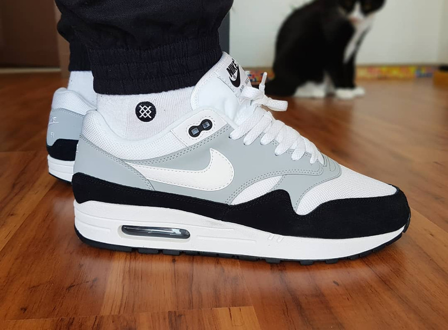 timeless design 6bbc1 268d6 Chaussure Nike Air Max 1 homme  Wolf Grey  2018 ...