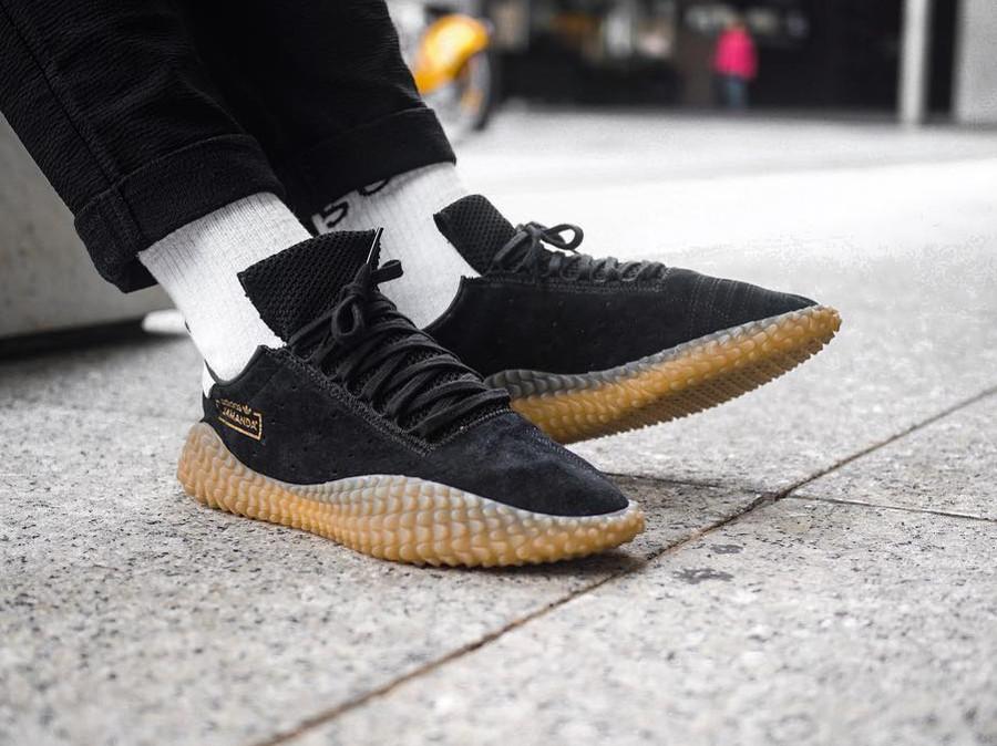 Adidas Kamanda Black on feet - @rob_o_sully