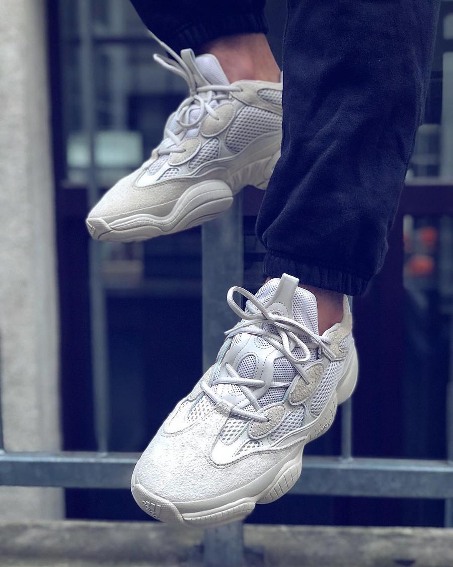 Adidas Yeezy 500 Blush on feet - @nik.o__