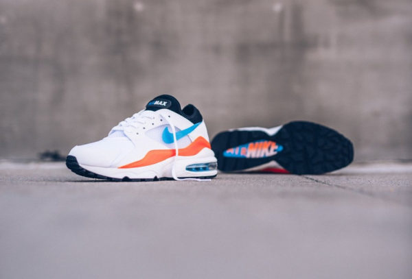 Chaussure Nike Air Max 93 White Nebula Blue Orange
