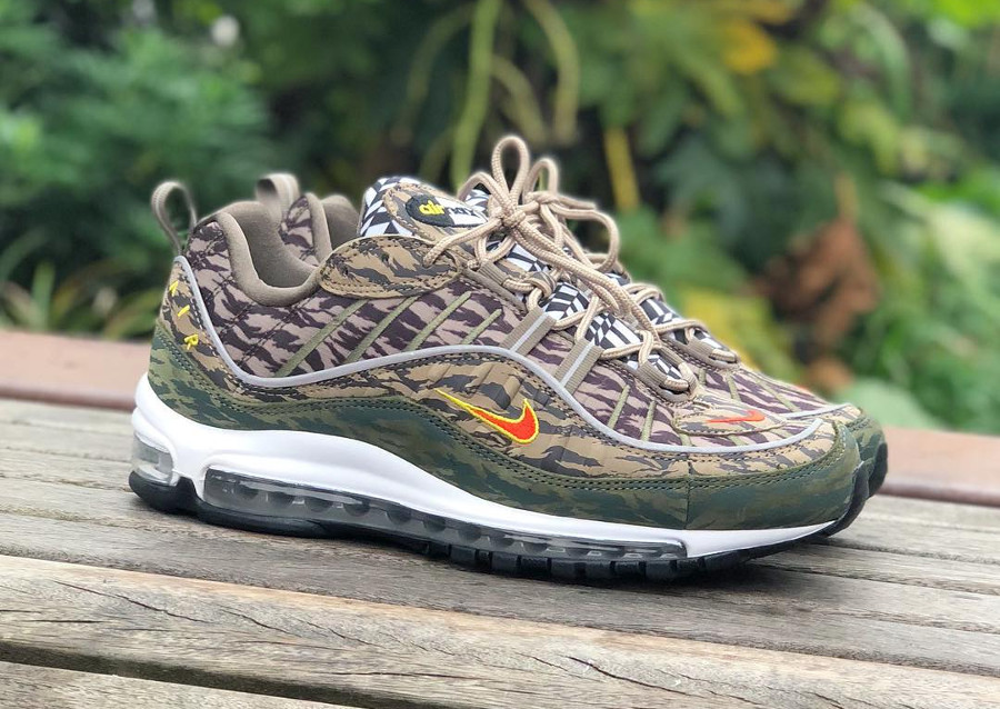 Chaussure Nike Air Max 98 AOP Camouflage Tigré Mash Up