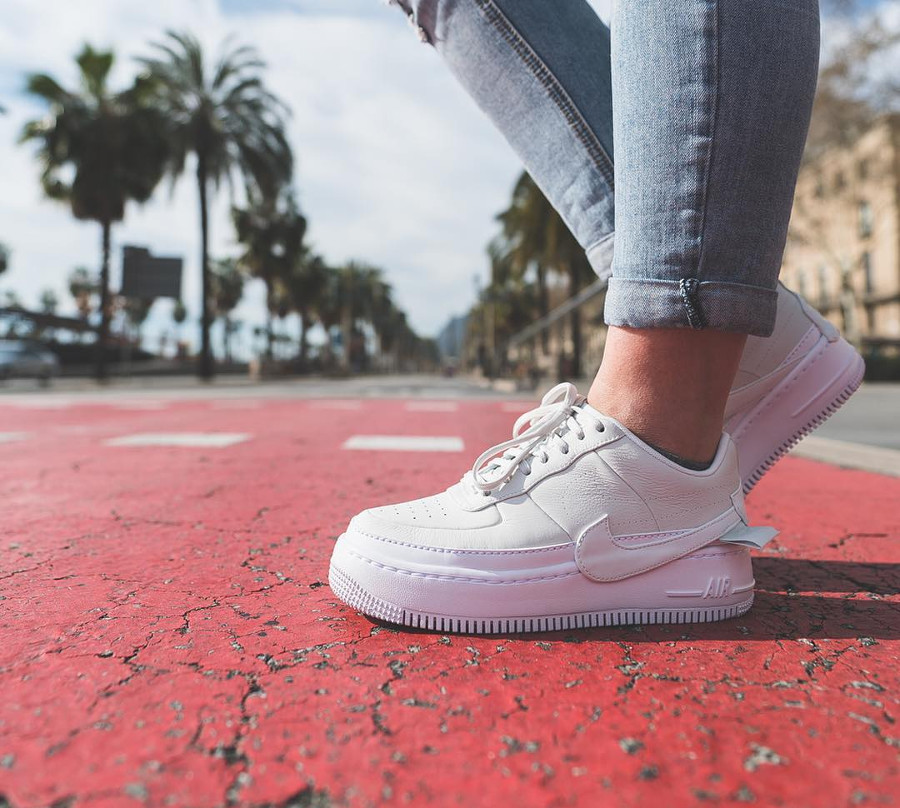 Nike Air Force 1 Jester XX White on feet - @cookameal