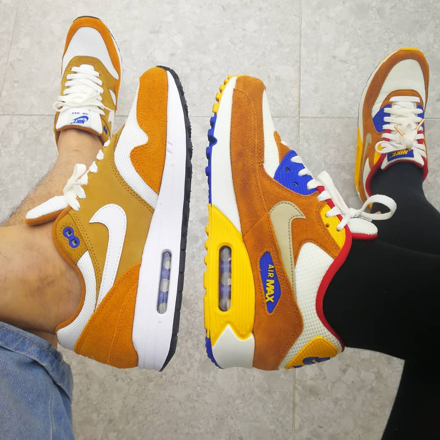 Nike Air Max 1 x Nike Air Max 90 Curry - @marionpocasneakers