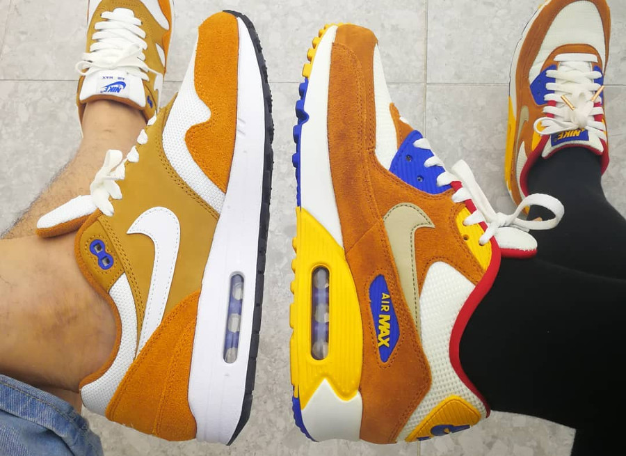 Nike Air Max 1 x Air Max 90 'Curry' (#SDJ 15/05/2018)