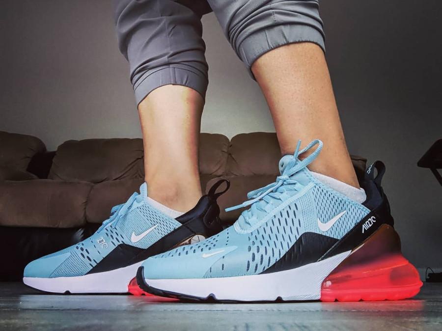 Nike Air Max 270 Ocean Bliss on feet - @cahrowline