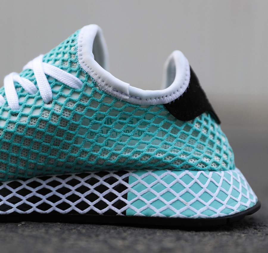 brand new 43ed8 04a41 Review  Adidas Deerupt Runner Parley Blue Spirit .