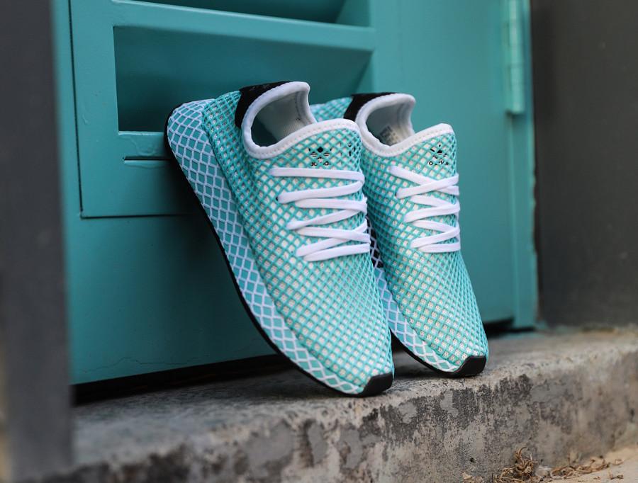 basket-adidas-deerupt-runner-parley-femme-bleu-aquatique- CQ2908 (6)
