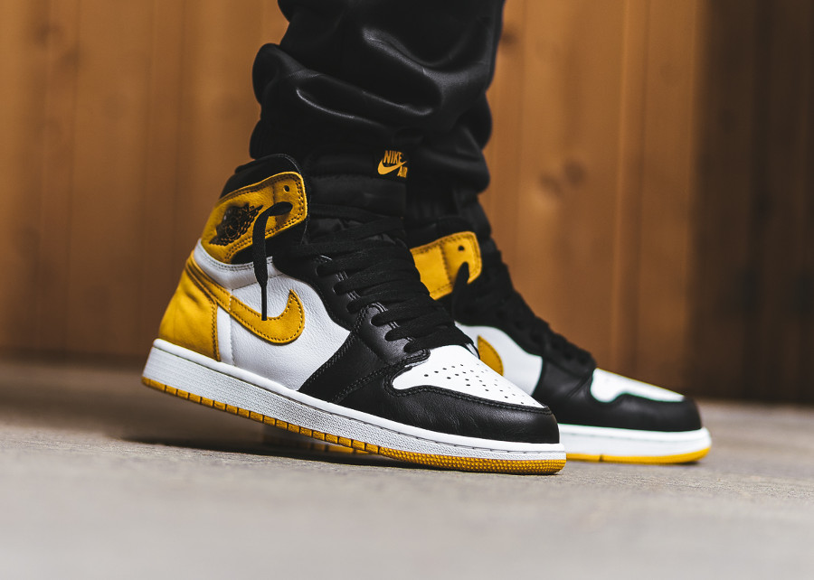 basket-air-jordan-1-royal-flush-style-black-toe-blanche-jaune-noire (2)