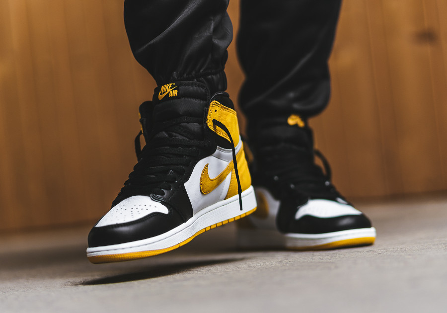 basket-air-jordan-1-royal-flush-style-black-toe-blanche-jaune-noire (3)