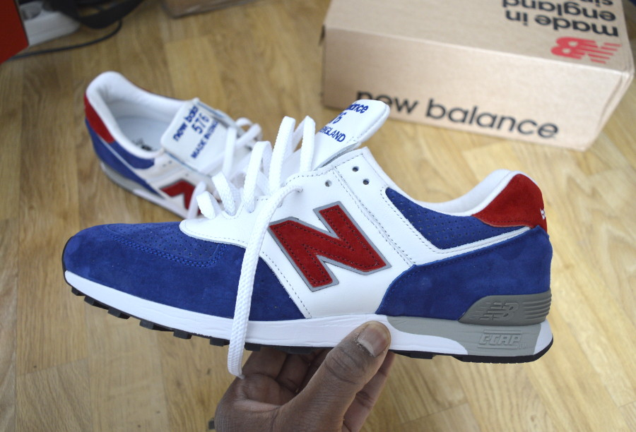New Balance M576 'Tri Colour' Red Blue White (made in UK)