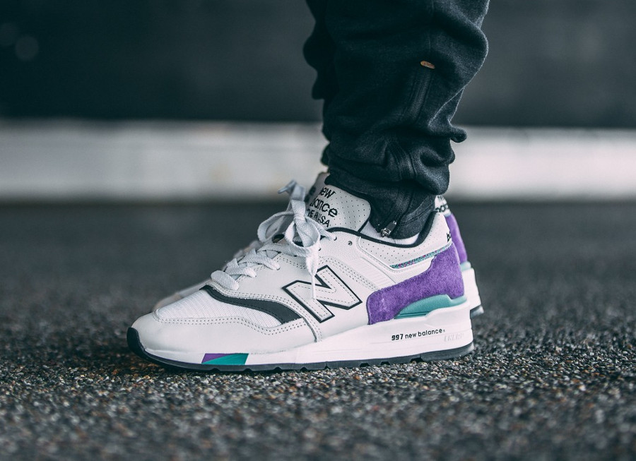New Balance M 997 WEA 'White Purple' (made in USA)