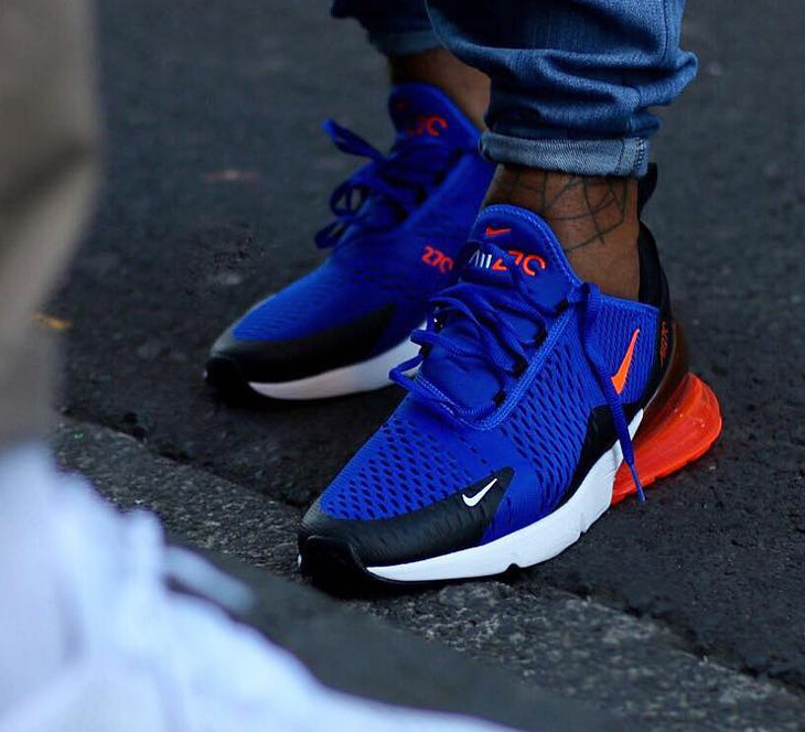 Chaussure Nike Air Max 270 Racer Blue Bleu Spiderman on feet