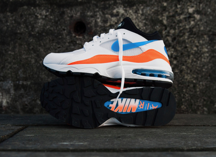 basket-nike-air-max-93-blanche-orange-bleu-pour-homme (2)