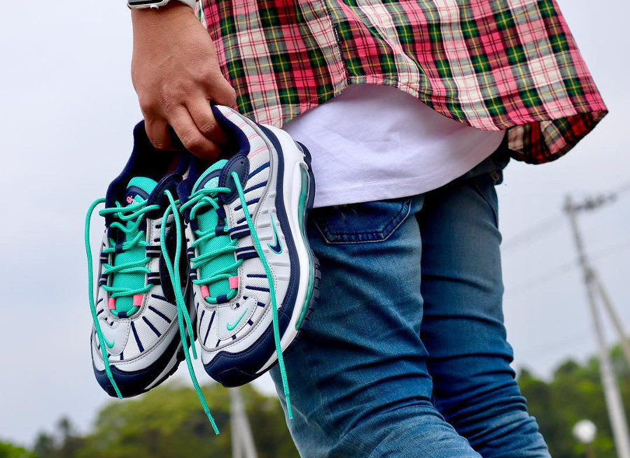 Chaussure Nike Air Max 98 Tidal Wave (Miami Vibes)
