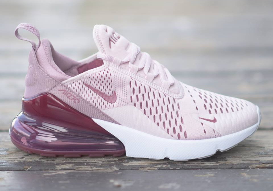 Review] Nike Air Max 270 femme Barely Rose Vintage Wine