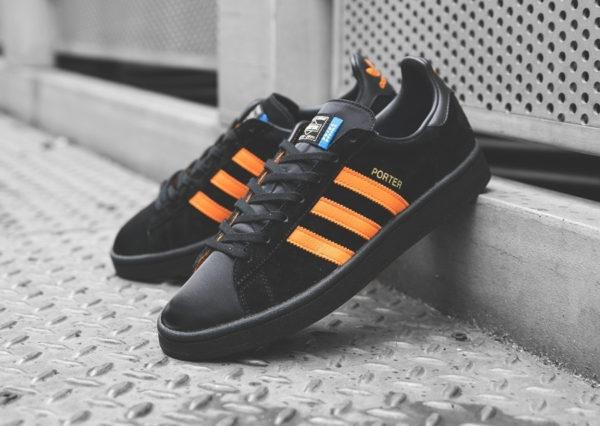 basket-porter-adidas-campus-suede-noir-3-bandes-orange-édition-limitée (3)
