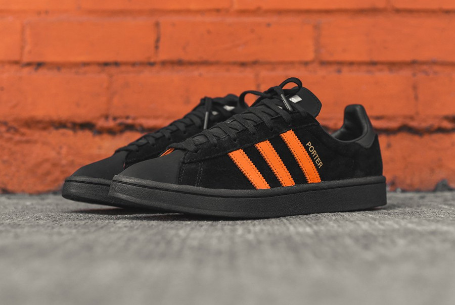 basket-porter-adidas-campus-suede-noir-3-bandes-orange-édition-limitée (5)