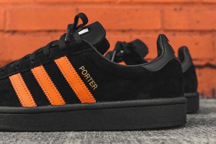 basket-porter-adidas-campus-suede-noir-3-bandes-orange-édition-limitée (6)