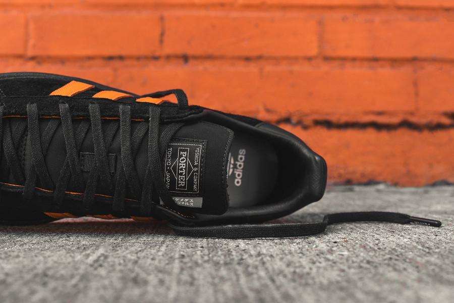 basket-porter-adidas-campus-suede-noir-3-bandes-orange-édition-limitée (7)