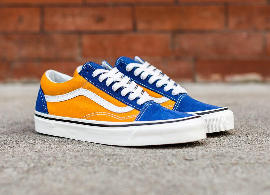 Vans Old Skool 36 DX Anaheim Factory 'OG Blue OG Gold'