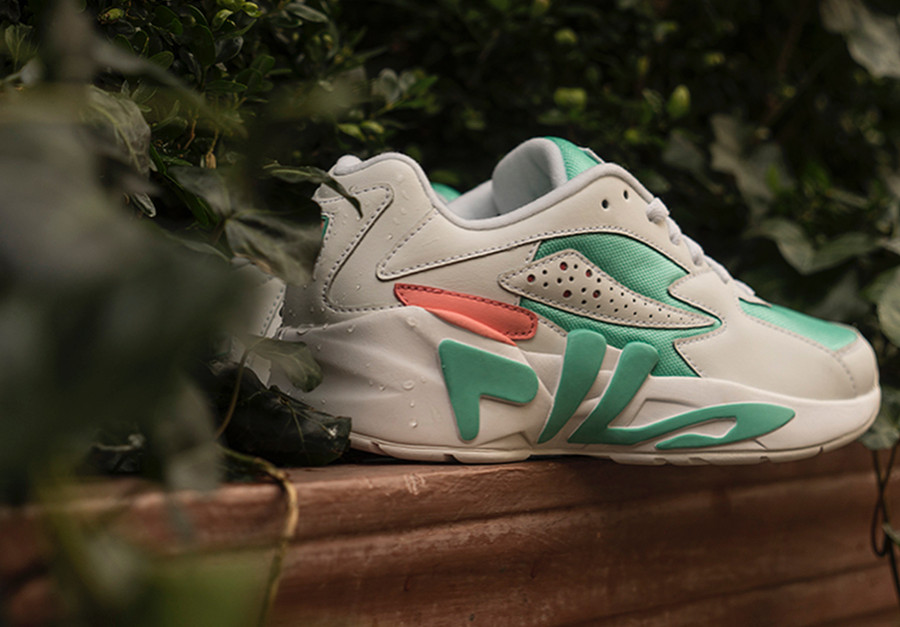chaussure-fila-mindblower-fille-blanche-turquoise