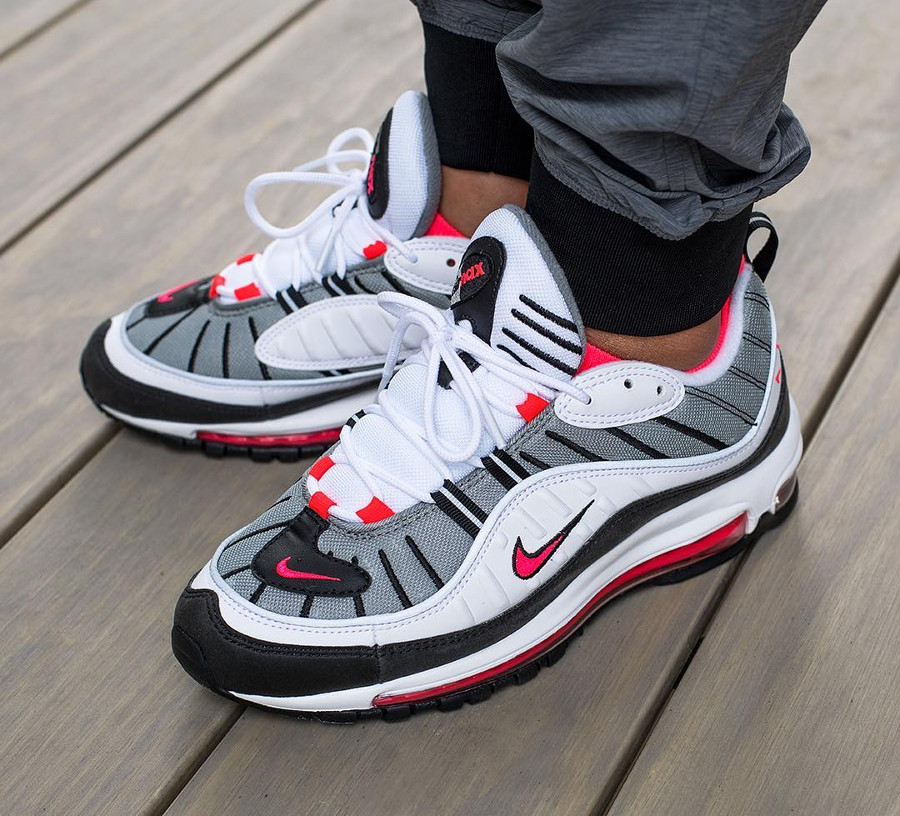 air max 98 blanche rouge