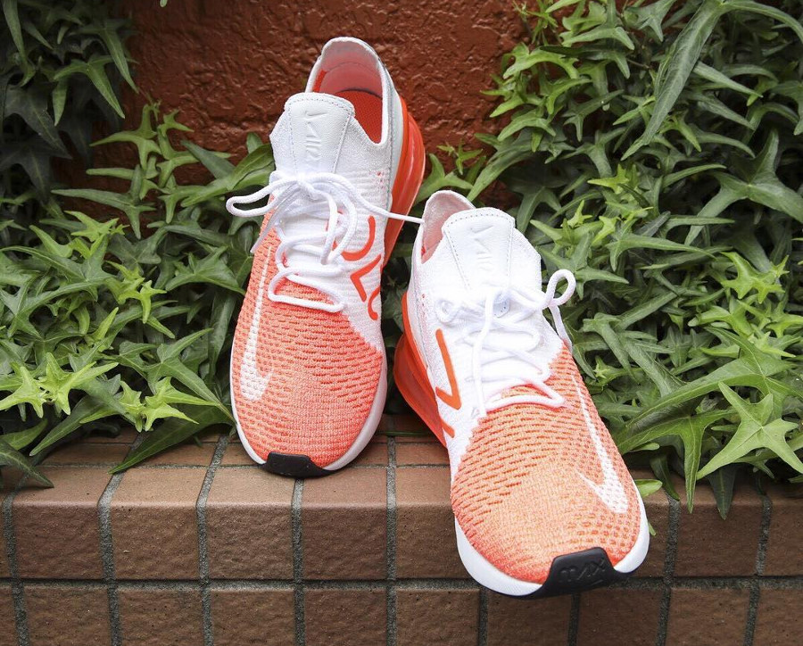 nike air max 270 flyknit orange