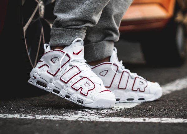 new product ead82 e6748 ... ireland chaussure nike air more uptempo blanche et rouge 9f8f9 cc66c
