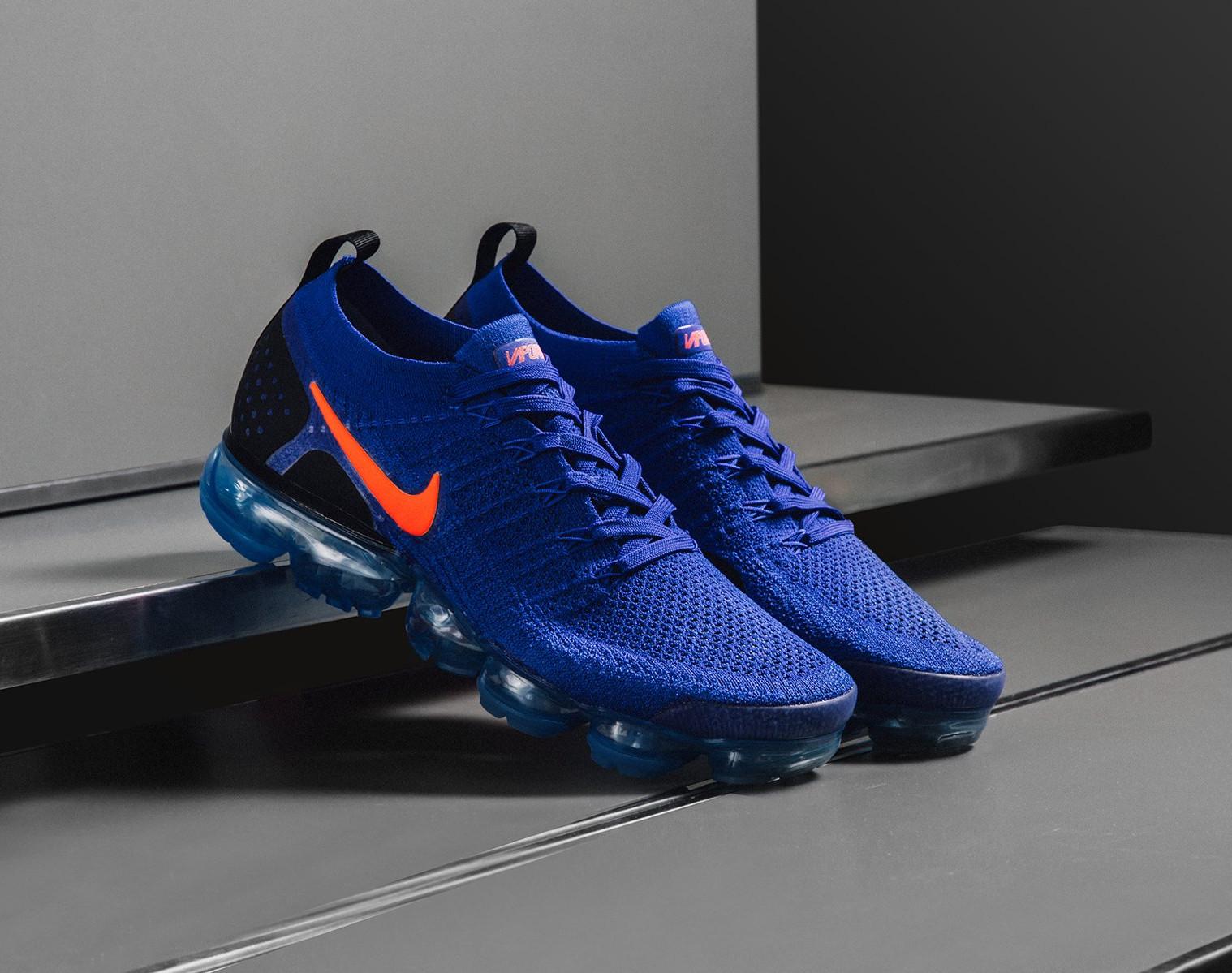 chaussure-nike-air-vapormax-2-tissage-bleu-foncé-swoosh-orange (4)