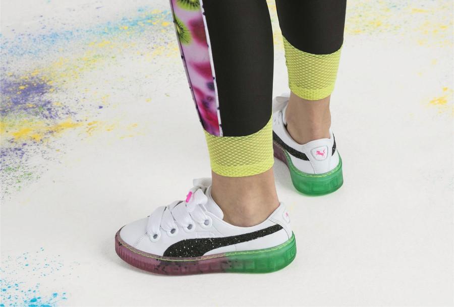 Sophia Webster x Puma Wmns Basket Platform 'Watermelon'